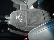 TOYOTA 4RUNNER   10 - 16  Center Console lid Cover Black Embroidered Armrest