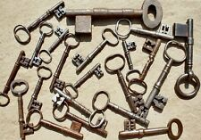 21 old British iron door lock keys