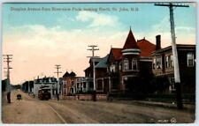 ST. JOHN, New Brunswick N.B.  DOUGLAS AVENUE Street Scene from Riverview Park