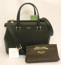 Kate Spade Hopkins Street Medium Fallon Black Leather Convt Satchel PXRU7604 NEW