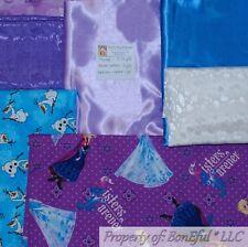 BonEful Fabric COTTON QUILT LOT Scrap BOX Kid Girl Disney Anna Elsa FROZEN Olaf