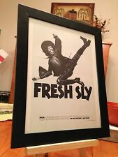 "2 FRAMED SLY & THE FAMILY STONE ""FRESH"" & ""SMALL TALK"" LP ALBUM CD PROMO ADS"