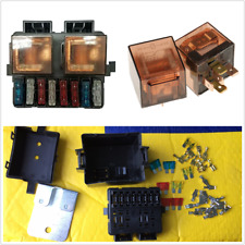 Car Boat Truck 12V 2-Way Relay Fuse Box Holder Terminal Kits 8 Blade in Circuit