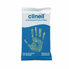 Clinell (CAHW100) Antibacterial Hand Wipes - Pack of 100