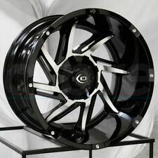 20x12 Black Machined Wheels Vision 422 Prowler 6x5.5/6x139.7 -51 (Set of 4)