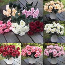 """12x 1.97"""" Strauß Kunst  Rose BlumenKunst blumen  Pflanzen Blumenstrauß Dekor"""