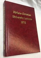 Abilene Christian University Bible Lectures 1978 Religion Christian HC RARE OOP