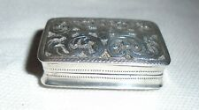 Antique Solid Silver Vinaigrette, John Lawrence & Co, Birmingham 1813