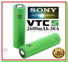 2 batterie ricaricabili Sony Konion US 18650 VTC5 IMR Litio 3,7V 2600 mAh 30A
