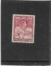 "TURKS & CAICOS ISLANDS 1938-45 2/- ROSE-CARMINE ""SALT INDUSTRY"" SG.203 FINE USED"