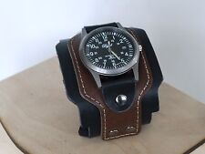 Swiss Army BROWN Leather wrist Watch wide band mens Women  STYLE Classic