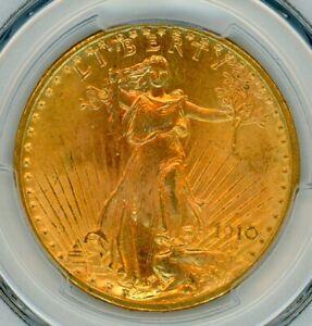1910 D $20 Saint PCGS MS66 - Registry Quality - No Reserve - Better Date
