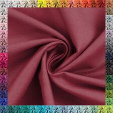 Baumwollstoff Uni 100% Baumwolle Popeline OEKO-TEX® Meterware 63 Farben Auswahl
