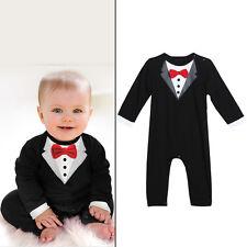 Newborn Toddler Baby Boy Gentleman Coat+Pants+Shirt Outfit Clothes Set Suit 3pcs