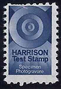 """Great Britain Blue """"Harrison"""" Test / Dummy Stamp """"Specimen Photogravure MNH READ"""