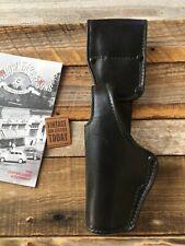 Tex Shoemaker Plain Black Leather Swivel Holster For HK USP 40 LEFT