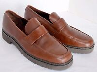 Eddie Bauer Loafer Women's 7.5 Brown Leather Moccasin Slip On Casual Work Shoe