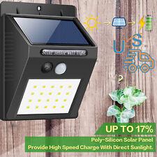 20 Led Outdoor Solar Power Lights Pir Motion Sensor Yard Lamp GardenWaterproof