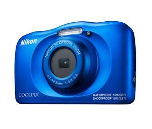 Wasserdichte Kompaktkamera Nikon COOLPIX W150 Blau mit 13,2MP und 3x Zoom