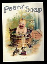 "ad4113 - Pears' Soap  - ""Impudence"" Baby in a Wash Tub! - Modern Advert postcard"