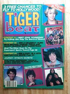 TIGER BEAT MAGAZINE SCOTT BIAO JOURNEY RICK SPRINGFIELD JOHN SCHNEIDER MARCH 198
