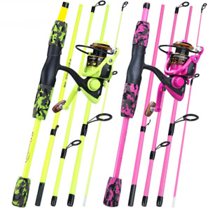 Portable 5 Sections Rod Combo Fishing Rod and Spinning Reel Set Fishing Tackle