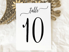 White Wedding Table Numbers 1 to 10 Wedding Birthday Party Table Decorations