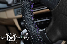 FITS TOYOTA HIACE 89+ PERFORATED LEATHER STEERING WHEEL COVER PURPLE DOUBLE STCH