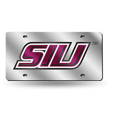 Southern Illinois Salukis Ncaa Mirrored Laser Cut License Plate Laser Tag