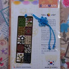 Metal Bookmark Korea Traditional Pattern Hangul  Freeshipping