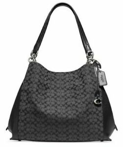 COACH Signature Jacquard Dalton 31 Black Shoulder Bag 79697