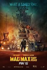 "Mad Max: 2015 Fury Road Movie Poster New 36""x24"" Tom Hardy"