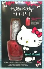"""Opi """"Say Hello Kitty"""" Special Edition Shade, With Free Swarovski Bows In Box."""