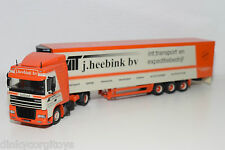TEKNO DAF 95 XF 95XF TRUCK WITH TRAILER J. HEEBINK VEENENDAAL VNMINT RARE SELTEN