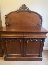 More details for victorian chiffonier sideboard antique circa 1860 mahogany