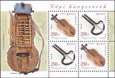 Hungría 2014 Instrumentos Musicales// Jardín/judío's Harp/Hurdy-Gurdy 4v m/s (n45252)