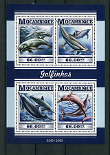 Mozambique 2015 MNH Dolphins 4v M/S Marine Animals Spinner Bottlenose Dolphin