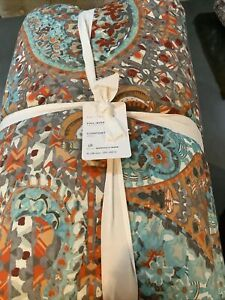 Pottery Barn Paloma Cotton Comforter Full/Queen + 2 Standard Shams #1745