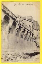 CPA Rare PONT St ESPRIT Gard SCULPTURES de l'Escalier CATHEDRALE Quai du Rhône