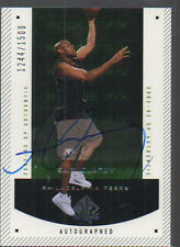 SAM CLANCY 2002-03 SP AUTHENTIC ROOKIE FIX AUTO CARD #171 /1500