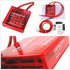 Vehicle Fuel Saver Volt Voltage Stabilizer Regulator Grounding & Earth Cable Kit