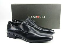 BRUNO MAGLI BLACK HANDMADE OXFORDS SHOES 100% LEATHER LACES ITALY NEW SZ 9 # 81