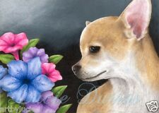 Dog 77 Chihuahua ACEO art print from original painting by L.Dumas