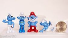 SMURFS Figures Figurines Cake Topper Lot Set Papa Smurf Brainy Clumsy Architect