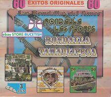 Las Rondallas del Amor Rondalla de Las Flores,Rondalla Tamaulipeca 3CD New Nuevo