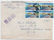 Philippines 1968 multi franked airmail cover to US