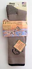 DUCKS UNLIMITED hunting socks NEW mens Large L 9-13 brown tall boot socks DU