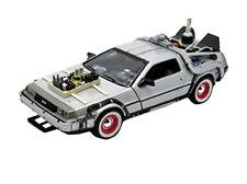 Voitures, camions et fourgons miniatures argentés DeLorean 1:24
