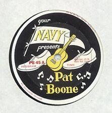 PAT BOONE - YOUR NAVY PRESENTS - PROMO LP - B. VAUGHN