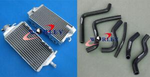 For Honda CR125R CR125 2000 2001 00 01 Aluminum Radiator & 6 pieces hose BLACK